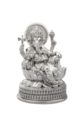 SHAZE Ganesha On Lotus Idol