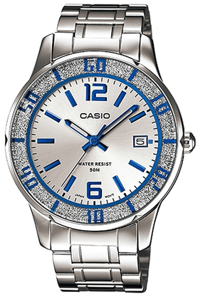 Casio Enticer - Metallic Strap Watch with Silver Round Dial image
