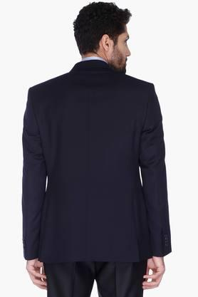 Mens Solid Notched Lapel Blazer