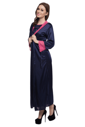 2 Pcs Satin Nightwear Set
