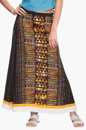 IMARA Womens Printed Long Skirt - 202172740