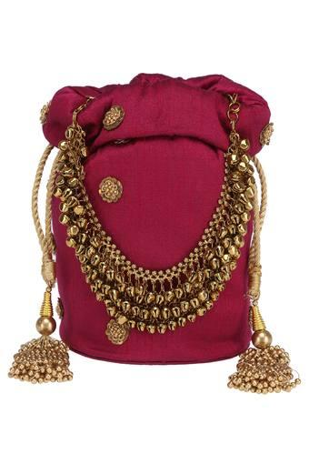 KASHISH -  Magenta Wallets & Clutches - Main