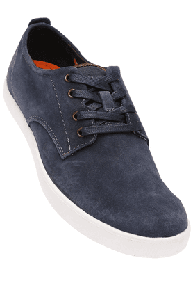 HUSH PUPPIESMens Blue Suede Leather Casual Lace Up Shoe