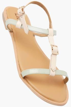 LIFE Womens Casual Wear Buckle Closure Flat Sandals - 202456928
