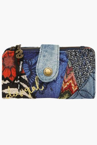 Womens Snap & Zipper Closure Wallet