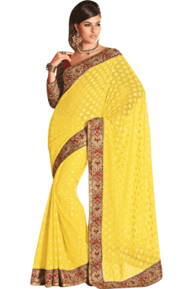 DEMARCA Womens Embroidered Saree (Buy Any Demarca Product & Get A Pair Of Matching Earrings Free) - 200946951