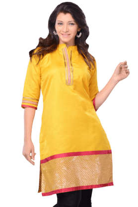 DEMARCA Womens Embellished Kurta (Buy Any Demarca Product & Get A Pair Of Matching Earrings Free) - 200936857
