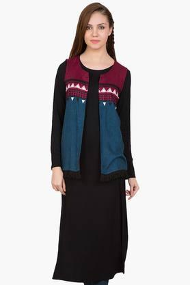 DESI BELLEWomens Printed Kurta And Jacket Set - 201829040