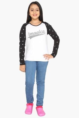 Girls Imagica Raglan T-shirt
