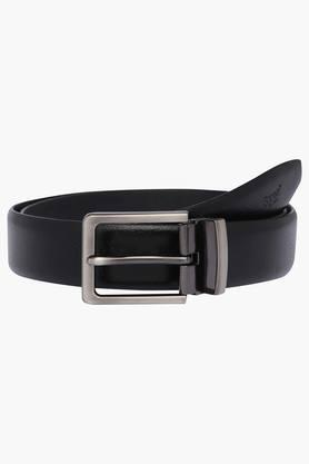 Mens Leather Buckle Closure Formal Belts
