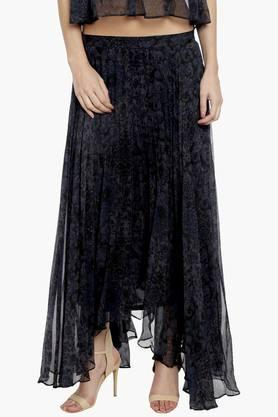 LOVE GENRATION Womens Printed Long Skirt