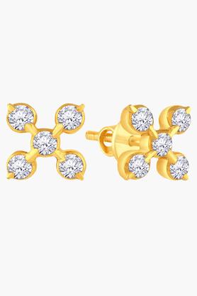 MALABAR GOLD AND DIAMONDSWomens 22 KT Gold And Diamond Earrings - 201203732