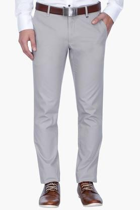 LOUIS PHILIPPE SPORTS Mens Slim Fit Solid Chinos - 201758269