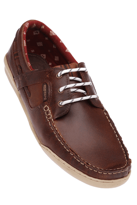 RED TAPE Mens Leather Lace Up Casual Boat Shoes  ...