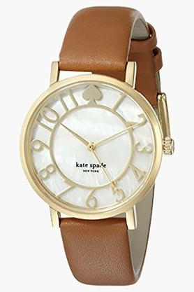 KATE SPADE NEW YORK Womens Quartz Analogue Leather Watch - 1YRU0783  ...