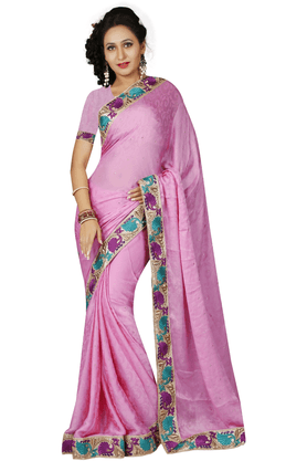 DEMARCA Women Satin Designer Saree