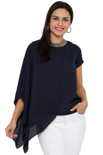SOIE -  Navy Tops & Tees - Main