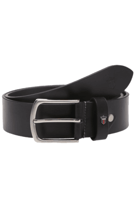 LOUIS PHILIPPE Mens Black Leather Formal Belt - 9454143