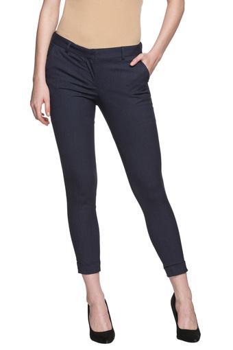 Womens 3 Pocket Slub Trousers