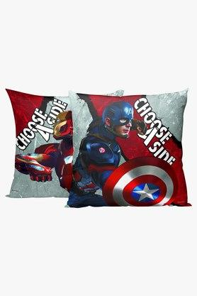 Marvel Civilwars Reversible Polyester Red Cushion Cover Set of 1