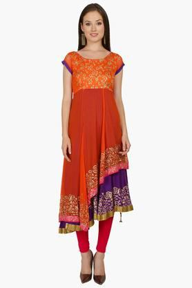 IRA SOLEILWomens Printed Anarkali Kurta (Buy Any Ira Soleil Product And Get A Charms Bracelet Free) - 201787613