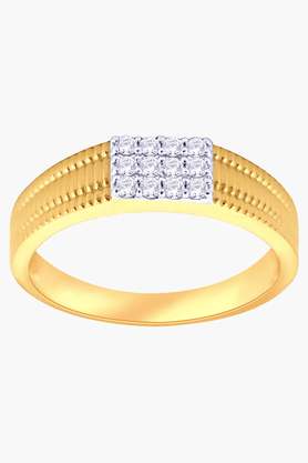 MALABAR GOLD AND DIAMONDS Unisex Mine Diamond Ring- Size 24.5