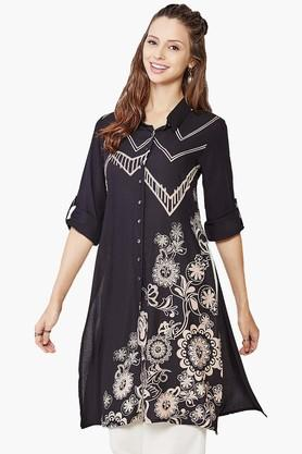 GLOBAL DESI Womens Printed High-low Tunic - 201652450