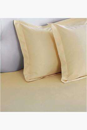 "ST CLOUD Ivory Biosense Solid Pillow Covers (Pillow Cover 18"" X 27"" (2 Pcs)"