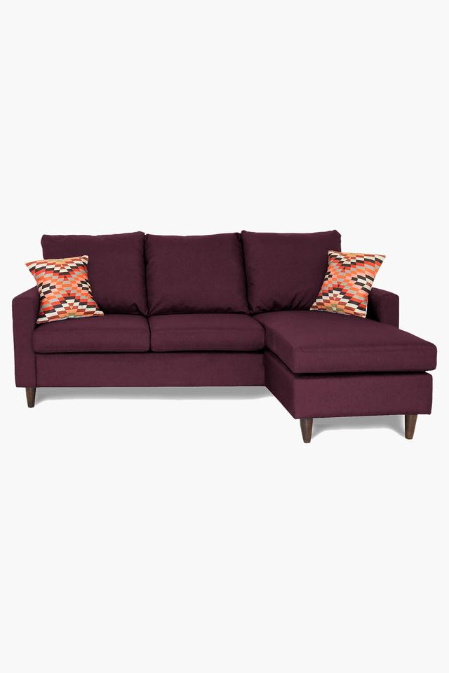 Raspberry Water Repellent Fabric Sofa (2 Seater - 1 Lounger)