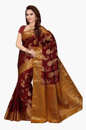 ISHINWomens Poly Silk Brocade Saree - 201628893