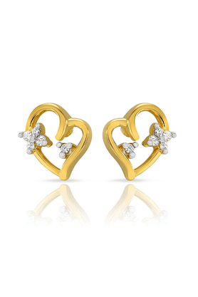 MAHI Mahi Gold Plated Chirpy Cupid Studs With CZ Stones For Women ER1103812G