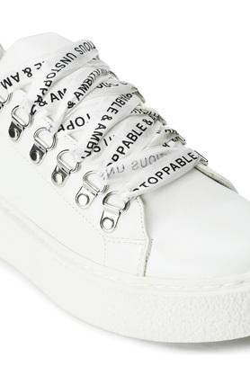 TRUFFLE COLLECTION - WhiteCasuals Shoes - 4