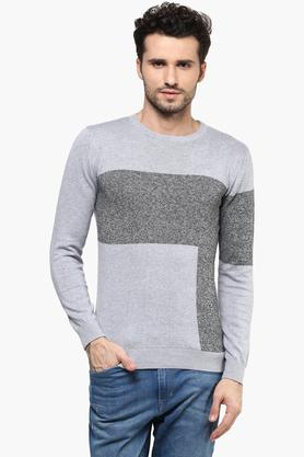VAN HEUSEN Mens Round Neck Colour Block Sweatshirt