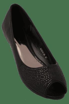 ELLIZA DONATEINWomens Casual Slipon Open Toe Ballerina Shoe