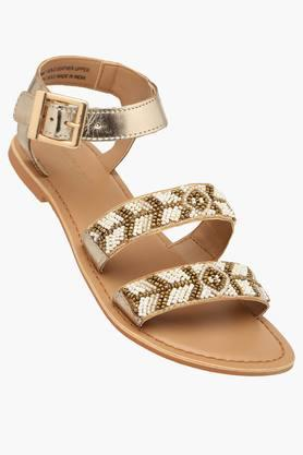 STEVE MADDEN Womens Casual Ankle Buckle Closure Flat Sandals - 201646331