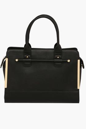 ALLEN SOLLY Womens Zipper Closure Satchel