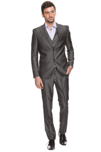 Mens Full Sleeves Slim Fit Solid Suit