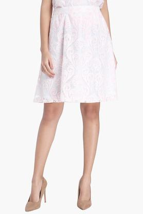 VERO MODA Womens Lace Knee Length Skirt