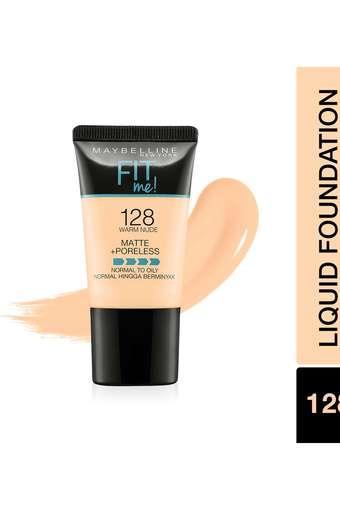 Fit Me Matte+Poreless Liquid Foundation Tube - 128 Warm Nude - 18 gm