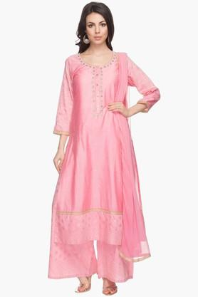 Womens Embellished Palazzo Suit