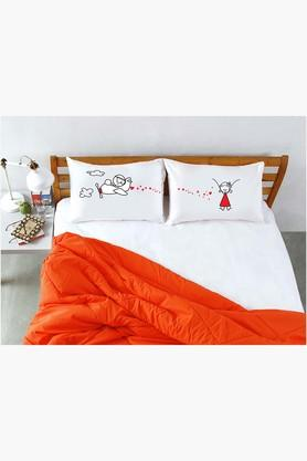 STOA PARISWhite Air Plane Pillow Talk Bed Linen (Bedsheet Set (King)