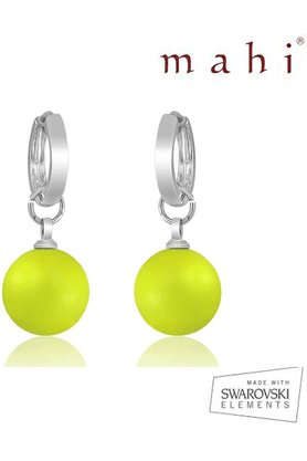 MAHI Mahi Brass Dangle & Drop Earring For Women Yellow ER1104080RYe
