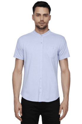 Mens Regular Fit Mao Collar Shirt