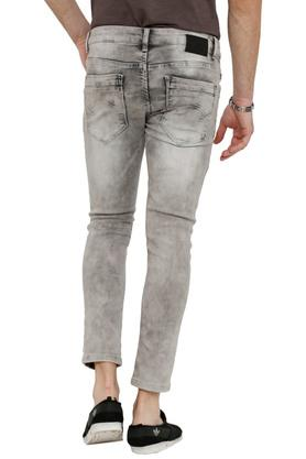 Mens 5 Pocket Ice Wash Jeans