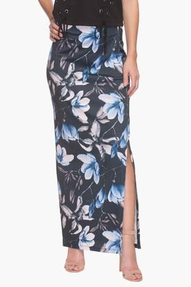 LIFE Womens Floral Print Maxi Skirt
