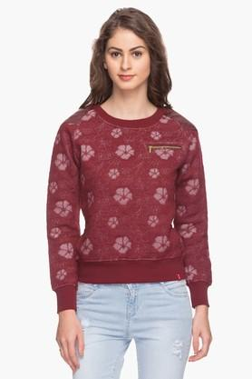 IRIS Womens Embroidered Round Neck Sweatshirt - 201600489