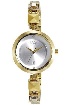 Womens Silver Dial Analogue Watch - 2606YM01
