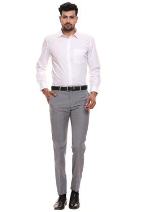 RAYMOND - Grey Formal Trousers - 3