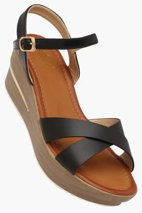 TRESMODE Womens Casual Ankle Buckle Closure Wedge Sandals