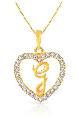 MALABAR GOLD AND DIAMONDS Womens Gold Pendant MHAAAAABCXRJ